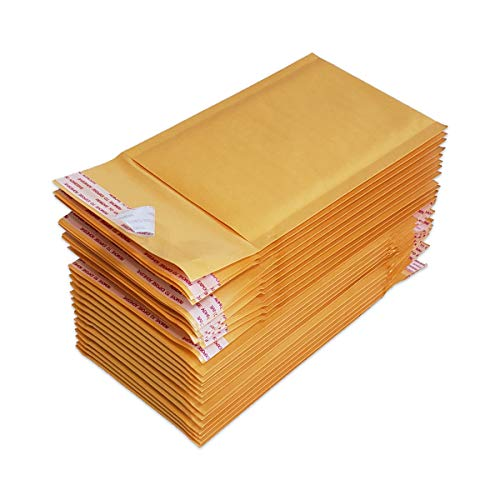 PACKZON #000 Kraft Bubble Mailers Self Seal Padded Shipping Envelopes 4