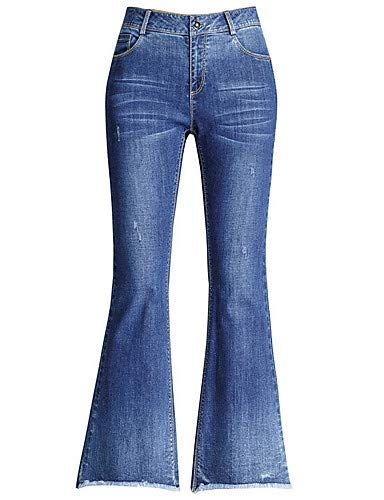 YFLTZ Womens Cotton Jeans Pants Solid Colored high Waist