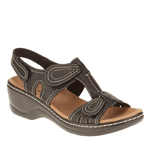 Clarks Narrative Lexi Walnut Q Mujer US 10 Oro Grande Sandalia