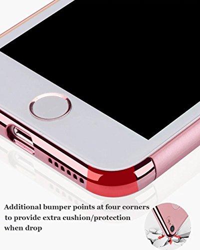 Vandot para iPhone 8 Funda, 3 en 1 Diseño Exclusivo Desmontable PC Duro de Plástico Parachoques Trasera Cubierta Ultra Delgada Slim 0.9mm Mate Building Funda Protectora Práctica Protective Case Shell  Hybrid Rosa