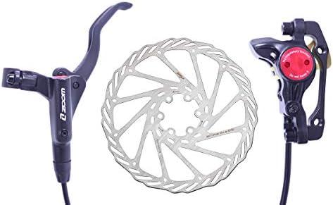 Bicycle Hydraulic Disc Brake Road Bike Levers Front Rear Set&160mm Brake Rotors