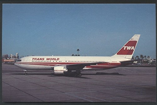 TWA Trans World Airlines Boeing B-767 Postcard Sky Harbor Airport - Arizona Harbor Sky