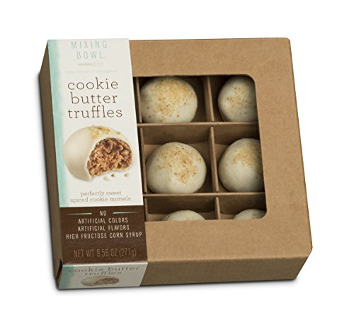 Mixing Bowl Classic Delicate Gourmet Dessert White Chocolate Truffles, Cookie Butter, 9 Piece Gift Box, 2 Boxes per Order -