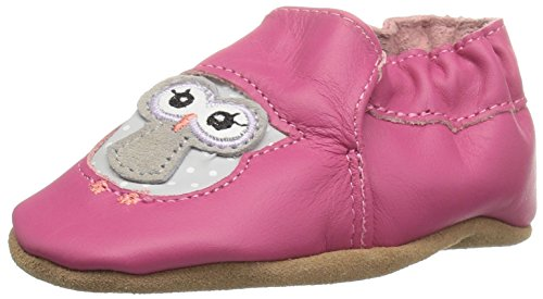 Robeez Girls' Soft Soles, Owl Playmates Bright Pink, 18-24 Months M US Infant