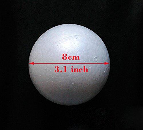 12pcs 8cm natural white styrofoam round balls Craft foam ball diy handmade painted ball