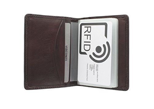 Tuscany Collection TSC40 RFID Visconti Black Protection Card CAMPER Leather Brown Holder 1qnOgd