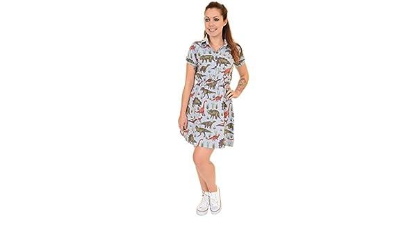 4b50f04a0918 Ladies Run   Fly 80s Adventure Dinosaur T Shirt Skater Dress Size 4 at  Amazon Women s Clothing store