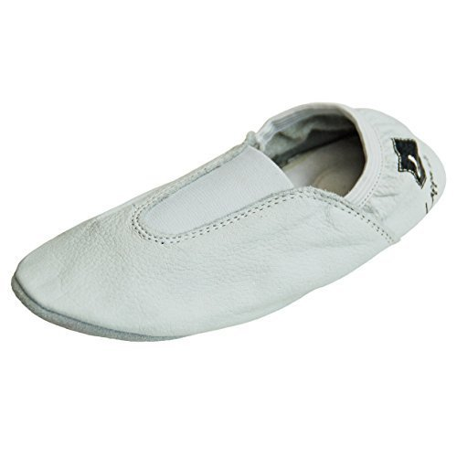 Zapatillas de gimnasia, Zapatillas de ballet, zapatillas de ballet, Zapatillas de ballet de vuelta, Zapatos de danza con Suela de goma. blanco Art. N246GG Multicolor - weiss 246GG