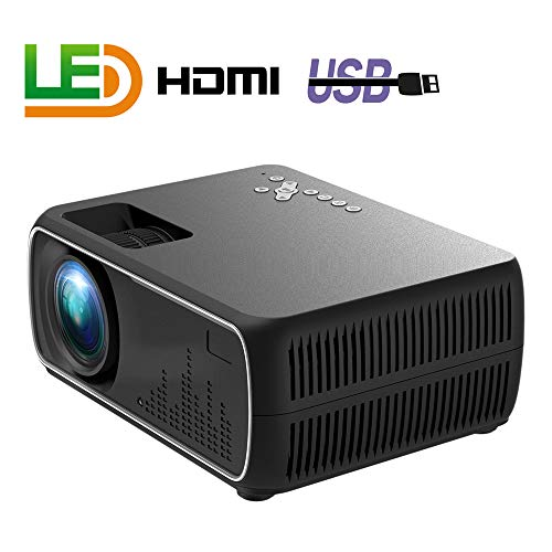 Alician A20 Mini Projector HD 1080P TV Projector Home Cinema Projector Basic Black US Plug ()