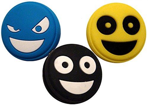 3 Tennis Vibration Dampener Smiley Emoji Pro H098kx3