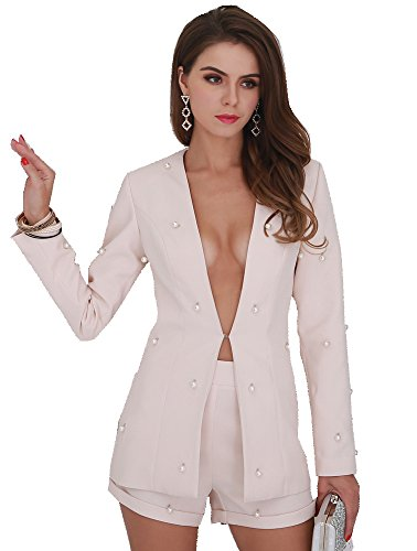 3cd1ae81f0e29 Jual Miss ord Women Deep V Button Long Sleeve Elegant Playsuit 2 pcs ...