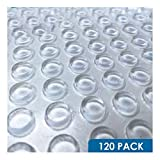 120 Adhesive Rubber Bumpers Stops Door Drawer Cabinet Home Kitchen Glass Holder