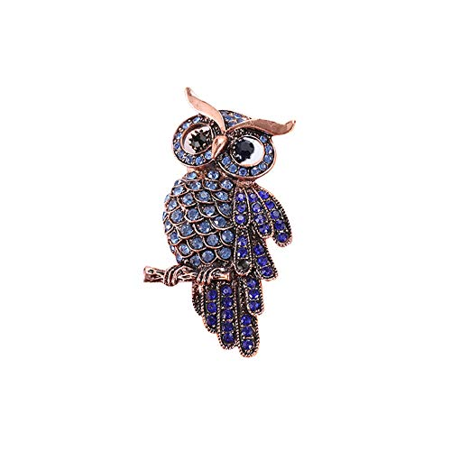 (856store Exquisite Brooches Women Owl Flower Grape Rhinestone Brooch Pin Lapel Collar Badge Clothes Decor )