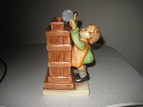Hummel MI Little Thrifty with East Germany Pfenning Coin Figurine 245663