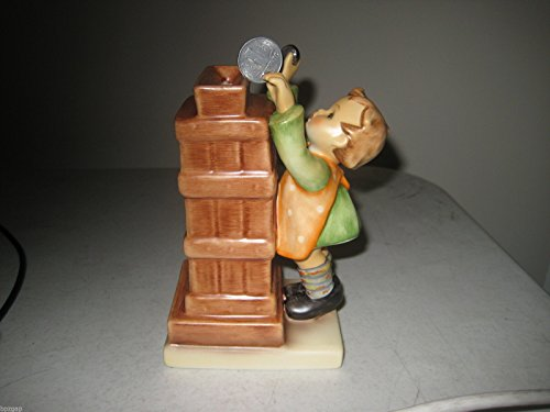 Hummel MI Little Thrifty with East Germany Pfenning Coin Figurine #245663