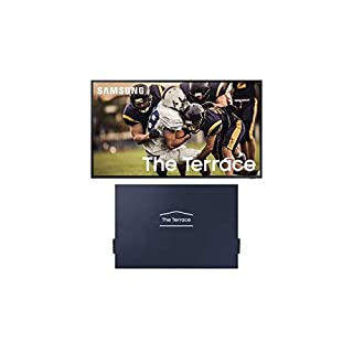 "Samsung QN75LST7TA The Terrace 75"" Outdoor-Optimized QLED 4K UHD Smart TV with a Samsung VG-SDC75G 75"" Dark Gray Dust Cover for The Terrace TV (2020)"