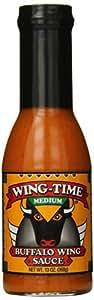 Wing Time Buffalo Wing Sauce, Medium, 13 Ounce