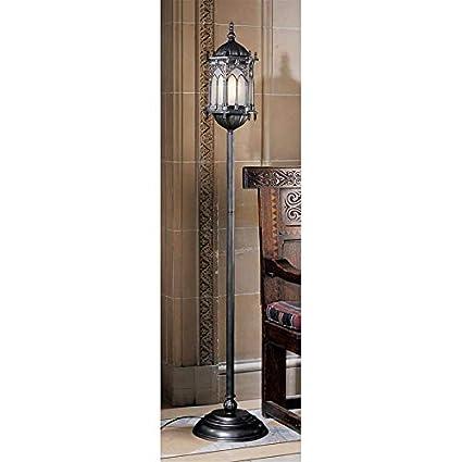 Set of 2 Design Toscano Aberdeen Manor Gothic Lantern Floor Lamp
