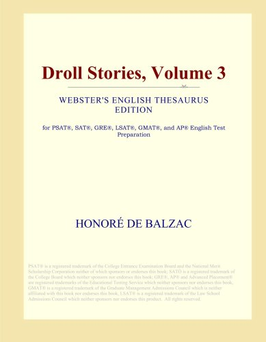 Droll Stories, Volume 3 (Webster's English Thesaurus Edition) ebook