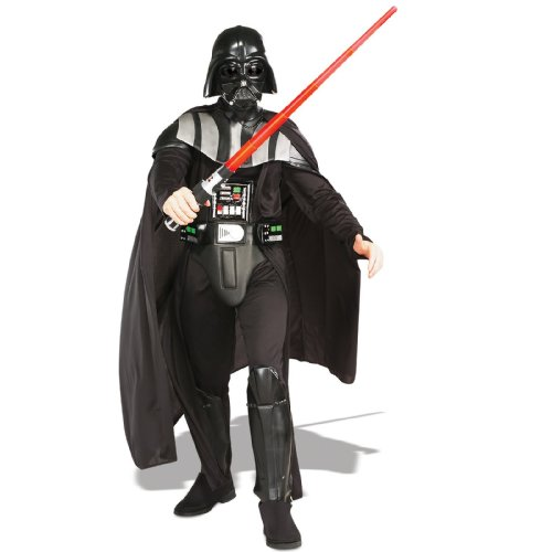 Adult Deluxe Darth Vader Costumes (Rubie's Star Wars Darth Vader Costume - Standard – Black)