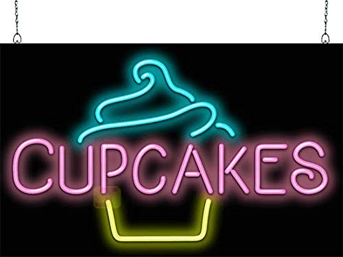Cupcake with Cupcake Graphic Neon Sign ()