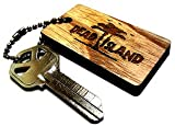 Dead Island Zombie Silhoette Laser Etched Wood Promo Key Chain SDCC 2011