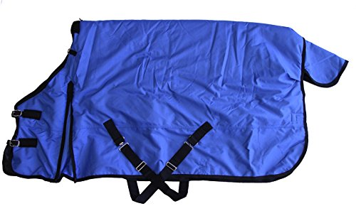 Heavy Weight Horse Turnout Blanket 1200D Rip Stop Water Proof Royal Blue 66 (Weight Medium Turnout)