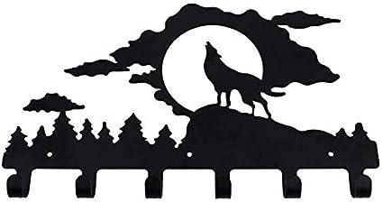 Jeerui – Aparcabicicletas de Llave Percha Perchero Blanco Negro Gancho Déco Pared Metal Cuadro de Las Llaves Ganchos Puerta Acero Organizador Hanger ...