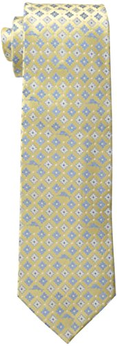 (Tommy Bahama Men's Micro Marlin Floral Necktie, Yellow, One Size )