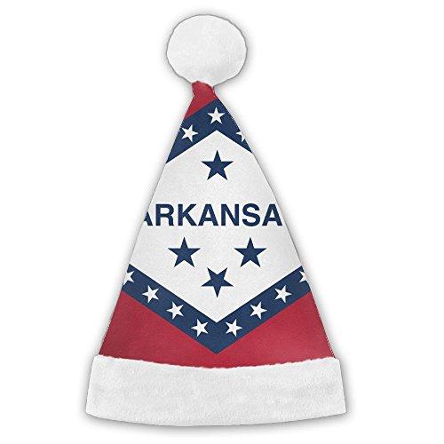Arkansas State Flag Santa Hat Christmas Costume Hat for Children and Adult -