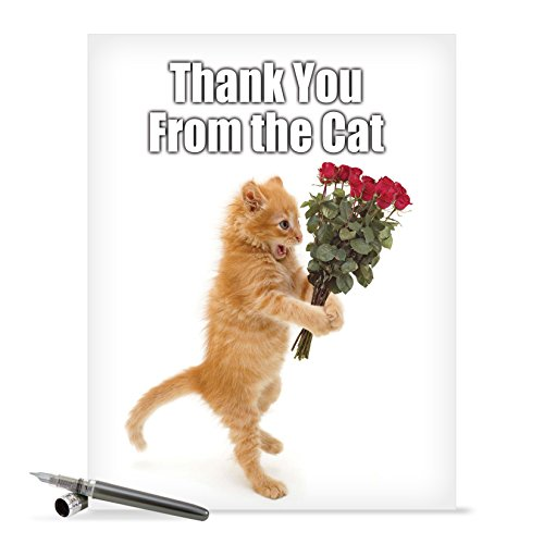 Funny Thank You Card with Envelope (8.5