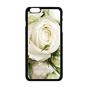 Personalized Clear Phone Case For iPhone 6 Plus,elegant white roses