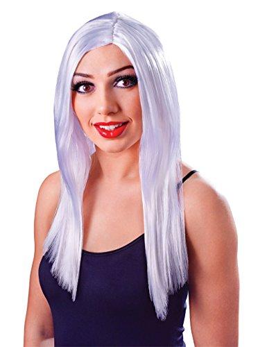 Bristol Novelty BW098 Long Wig, White, One Size -