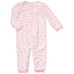 Carter's Baby Girl's Infant Long Sleeve One Piece Fleece Coverall - Zebra Print