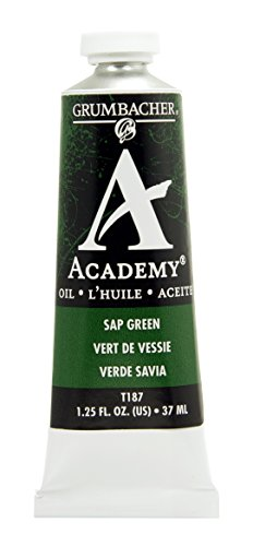 Academy Oil Color Paint - Grumbacher Academy Oil Paint, 37 ml/1.25 oz, Sap Green