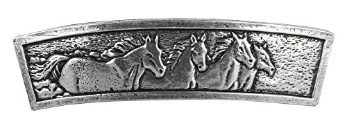 Horses Hair Clip | Hand Crafted Metal Barrette Made in the USA (Horse Clasp)