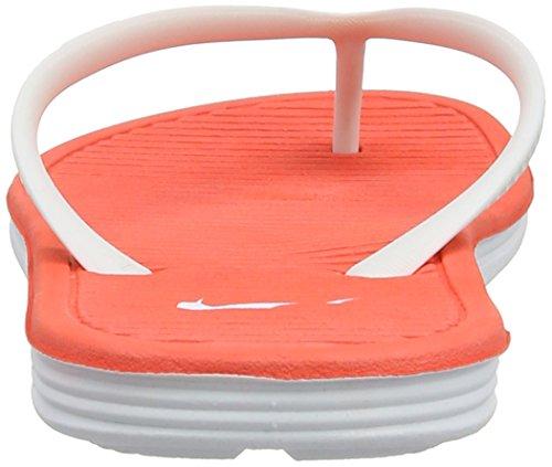 Nike Solarsoft Thong Ii - sandalias de sintético mujer Blanco (White / Bright Crimson-White)