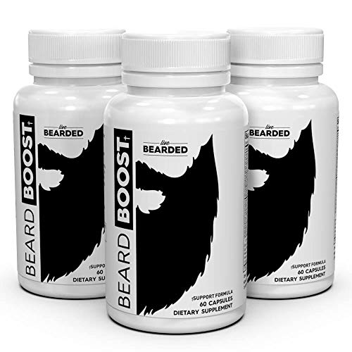 Live Bearded Beard Growth Vitamins, Mens Beard Vitamins For Faster Hair Growth 90 day supply