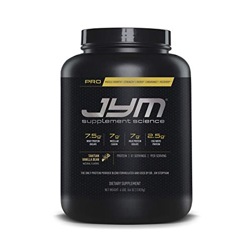 Pro Jym Protein Powder - Egg White, Milk, Whey protein isolates & Micellar Casein | JYM Supplement Science | Tahitian Vanilla Bean Flavor, 4 Lb (Calculate Lean Body Mass Body Fat Percentage)