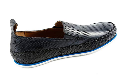 de Hamilton of Shoes amp; para MH16 Azul Mocasines Made Hombre 122 Piel Hand Class Lisa MH Melvin Azul Pq1gfw4x