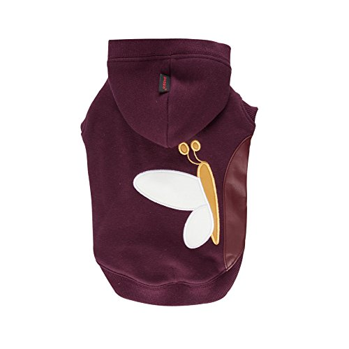 Puppia Authentic Winter Butterfly Hoodie, Medium, Purple by Puppia