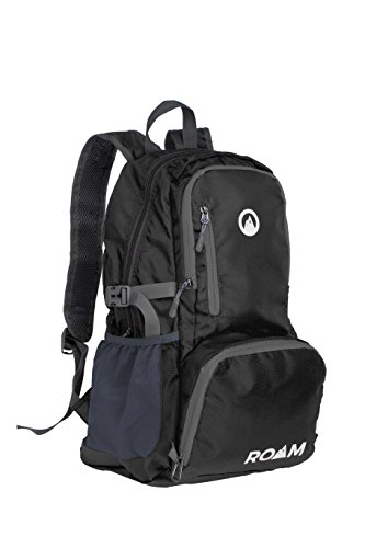 Roam Foldable Backpack – Lightweight Day Pack Water-Resistant, 10oz, 25L, – Durable Tear-Resistant Nylon Weave – Daypack for Travel, Hiking, Backpacking, Camping, Mountaineering, Beach, Outdoors