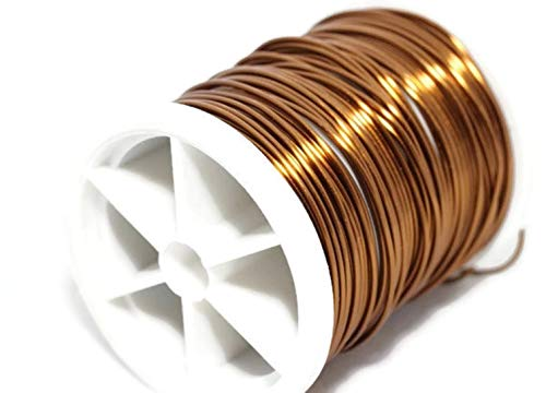 (Brown Jewelry Wire 18,20,22,26,28 Gauge, Wire Wrapping, Dead Soft Wire, Non Tarnish Copper Wire, 16/28/60/92/155 Feet Artisan Wires (20 Gauge (0.8 mm) 28 Feet) )