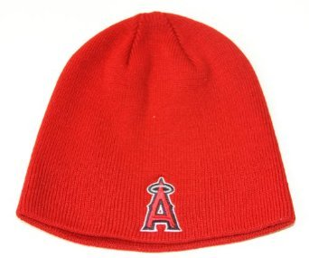- Los Angeles Angels of Anaheim Red Toque Skull Cap - MLB TE Cuffless Beanie Knit Hat