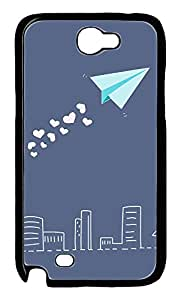 Samsung Note 2 Case Pretty Paper Airplane PC Custom Samsung Note 2 Case Cover Black