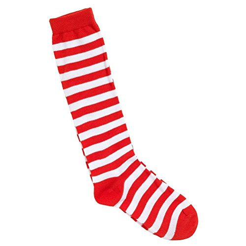 Tinksky Cosplay Decoration Party Supplies Clown Socks Circus Fancy Dress (Red and White)