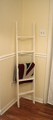 Rustic Ladder, 60'' Distressed Blanket Ladder, Quilt Rack, Vintage Ladder, Towel Rack, Custom Built by The Appalachian Artisans
