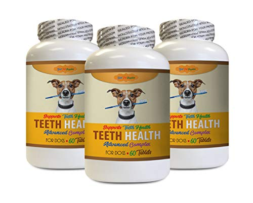 Dog Oral Hygiene Chews - Dog Healthy Teeth Care - Gum and Teeth Complex - Stop Plaque Build UP - Dog Vitamin c - 3 Bottles (180 Tablets)