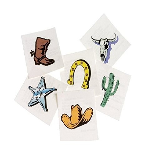 US Toy Western Temporary Tattoos (2-Pack) (Tattoo Rangers)
