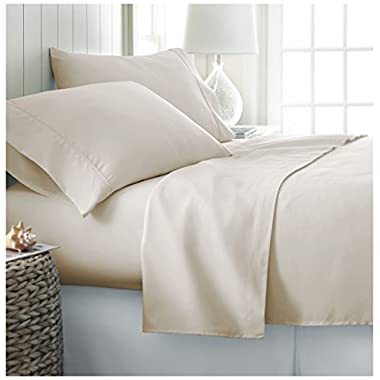 Queen Sheet Set by ienjoy Home Collection - Deep Pocket Bed Sheets - 100% Soft Brushed Microfiber Bedding - Queen, Cream